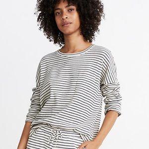 MADEWELL waffle knit striped long sleeve top